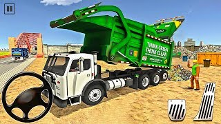 Collecting Trash through Garbage Truck - Dump Truck Driver Simulator 2020 - Android Gameplay