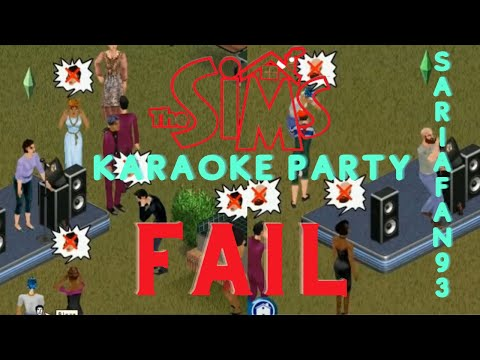 The Sims 1: Karaoke Fail