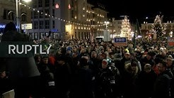 LIVE: Anti-immigration rally in Saxony's Aue following Christmas Eve stabbing