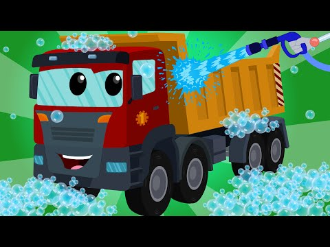 Dump Truck | Car Wash | Kids Videos | Learn Transport