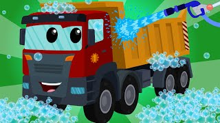 Dump Truck | Car Wash | Kids Videos | Learn Transport