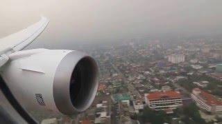 scoot tz298 boeing 787 8 landing into bangkok don muang airport rwy 21r