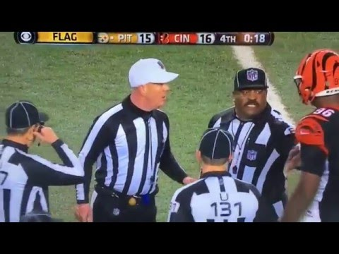 1-9-16 Steelers vs Bengals - end game penalties...