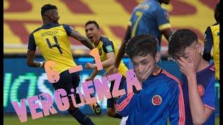 Reacción Colombia vs Ecuador !Vergüenza¡