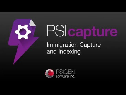Immigration Forms Processing with PSIcapture 6