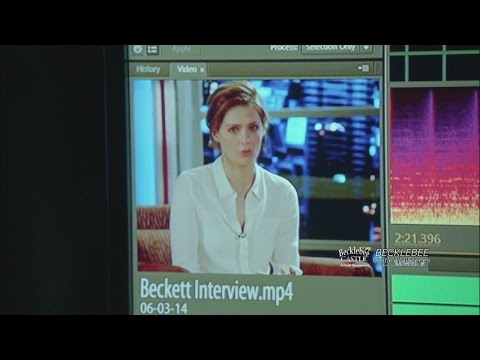 """Castle 7x15 """"Reckoning"""" Castle Watching Beckett's News Interview  On His Disappearance"""