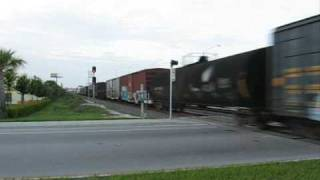 Chasing CSX Q453 Lake Worth to Hollywood Saturday 7/11/09