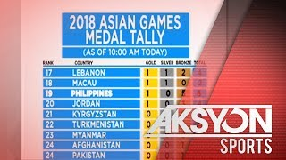 Pilipinas, nasa ika-19 puwesto sa medal tally ng Asiad