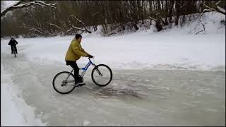 Самый лучший дрифт зимой на велосипедах. #3