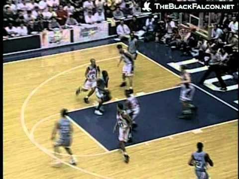Wallace and Stackhouse - Onslaught of 8 Dunks at Duke 1995