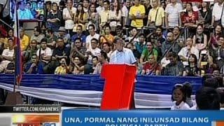 NTG: UNA, pormal nang inilunsad bilang political party