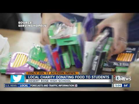 Las Vegas charity donating food to high school