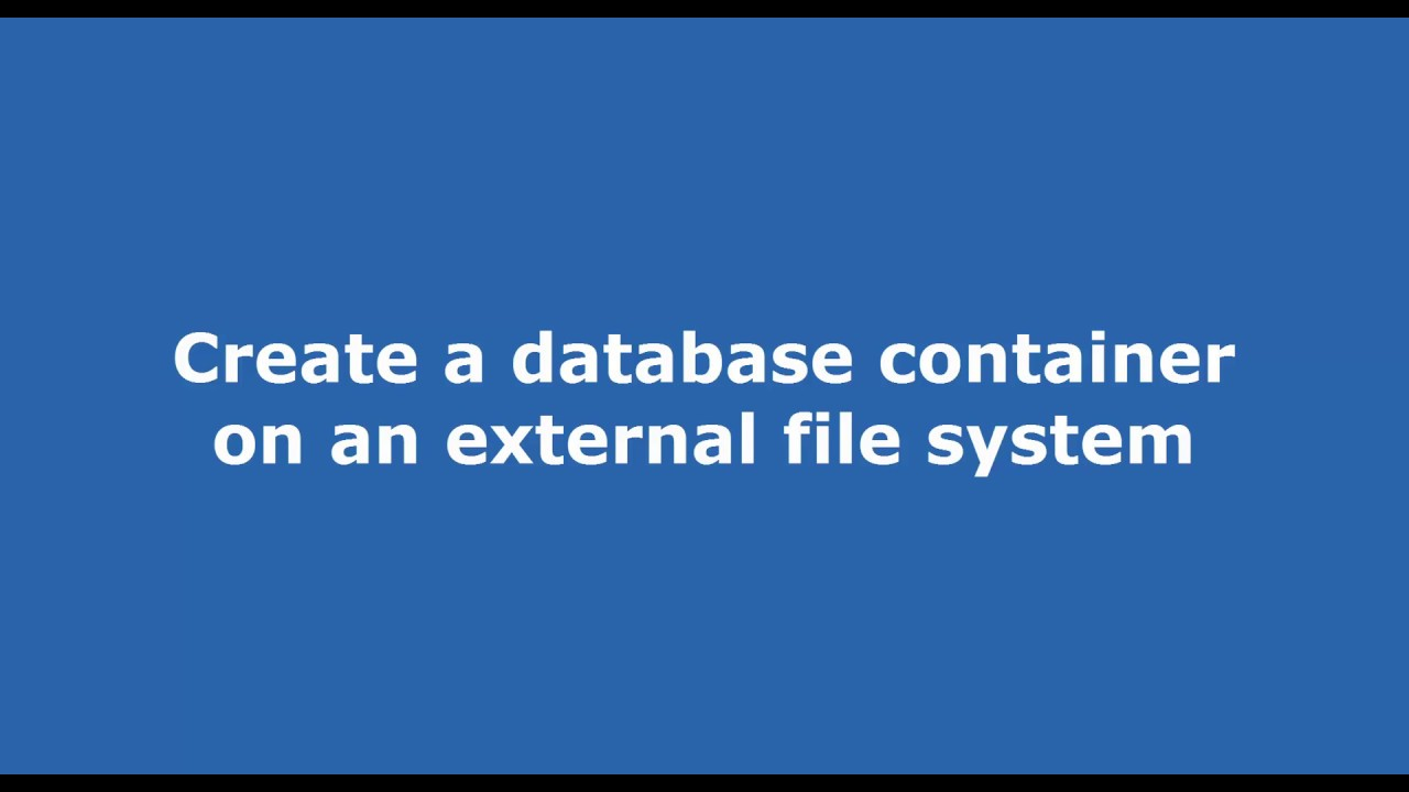 Create a mysql database docker container using an external file system