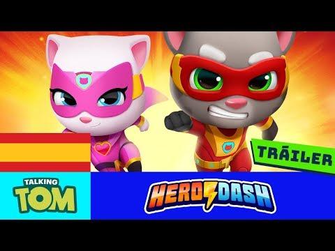 ⚡¡Pelea contra los mapaches! PRE-REGÍSTRATE AHORA para Talking Tom Hero Dash (Tráiler oficial) ⚡