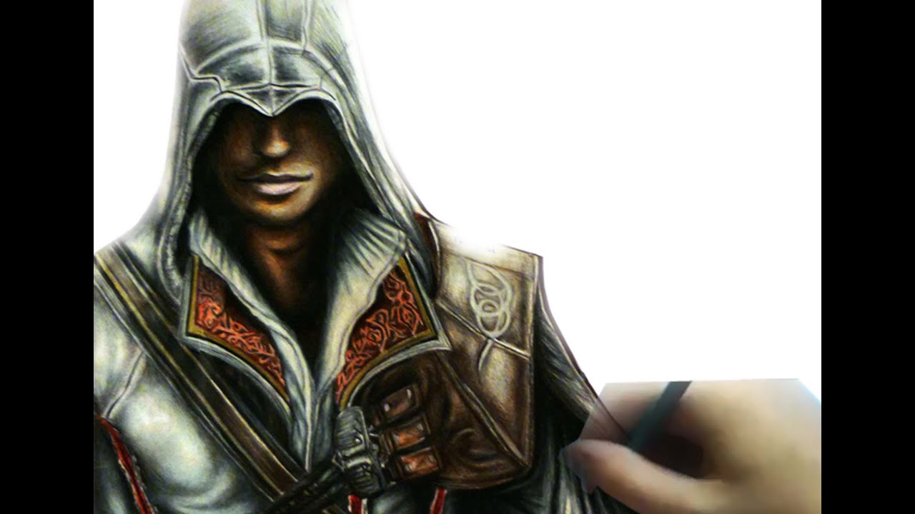 drawing ezio auditore from assassins creed 2   youtube