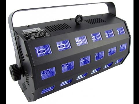 "IBIZA Light ""LED-UV24"" 24x 3 Watt LED Schwarzlicht Fluter"