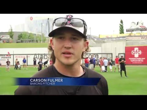 Birmingham Barons help special needs children with baseball clinic
