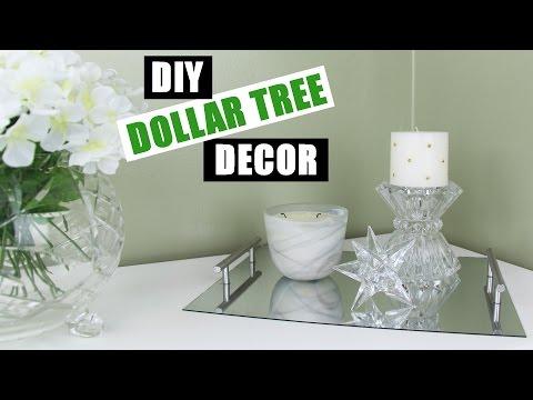DOLLAR TREE DIY Room Decor   Dollar Store DIY Mirror Vanity Tray   DIY Mirror Perfume Tray
