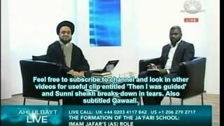 Ahlulbayt tv - VERY ANGRY SUNNI brother :) questions a Shia Shayk smiling syed what is islam?kafir