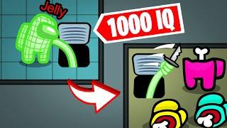 AMONG US 1000IQ HACK vs. CREWMATES...