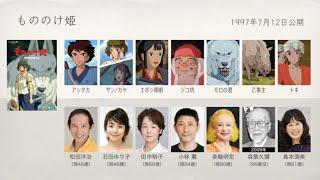宮崎アニメの声優さんたちは、こんな顔!