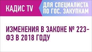 Изменения в законе № 223-ФЗ в 2018 году