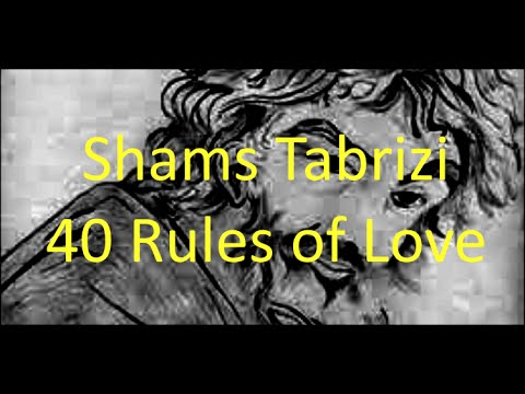 Shams Tabrizi 40 Rules Of Love