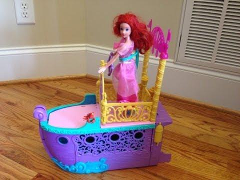 ARIEL Little Mermaid Movie Disney Princess Ariel's Royal Ship Playset