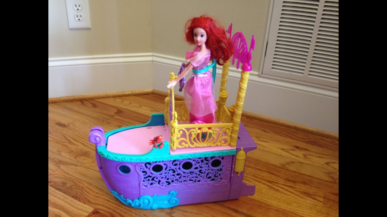 Little mermaid royal ship unboxing featuring ariel youtube geotapseo Images