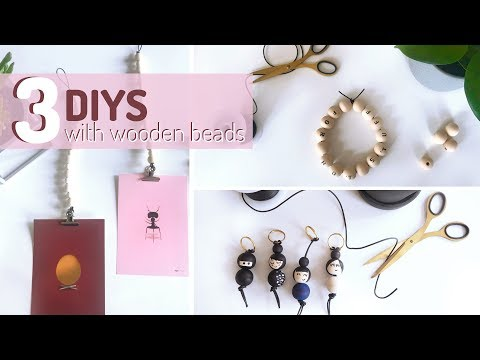 3 DIY's with wooden beads