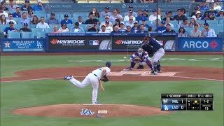 Clayton Kershaw 7 Ks in 6 IP vs Brewers | Dodgers vs Brewers