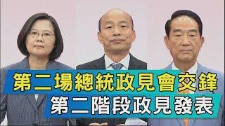 【TVBS新聞精華】第二場總統政見會交鋒  第二階段政見發表