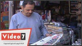 قصة مهندس مدنى يعمل  بائع جرائد بالإسماعيلية