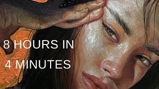 "PAINTING TIMELAPSE || Portrait in Oil - ""PUSH"""