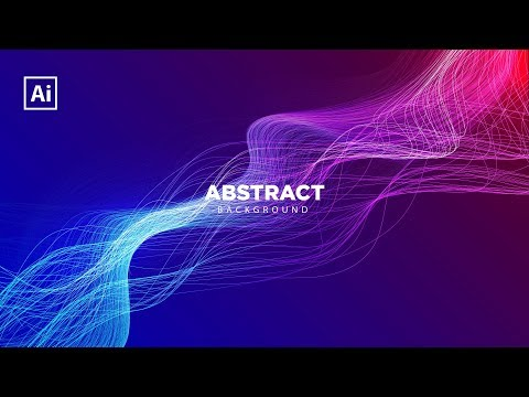 How to abstract lights with a background dynamic beam In Adobe Illustrator thumbnail