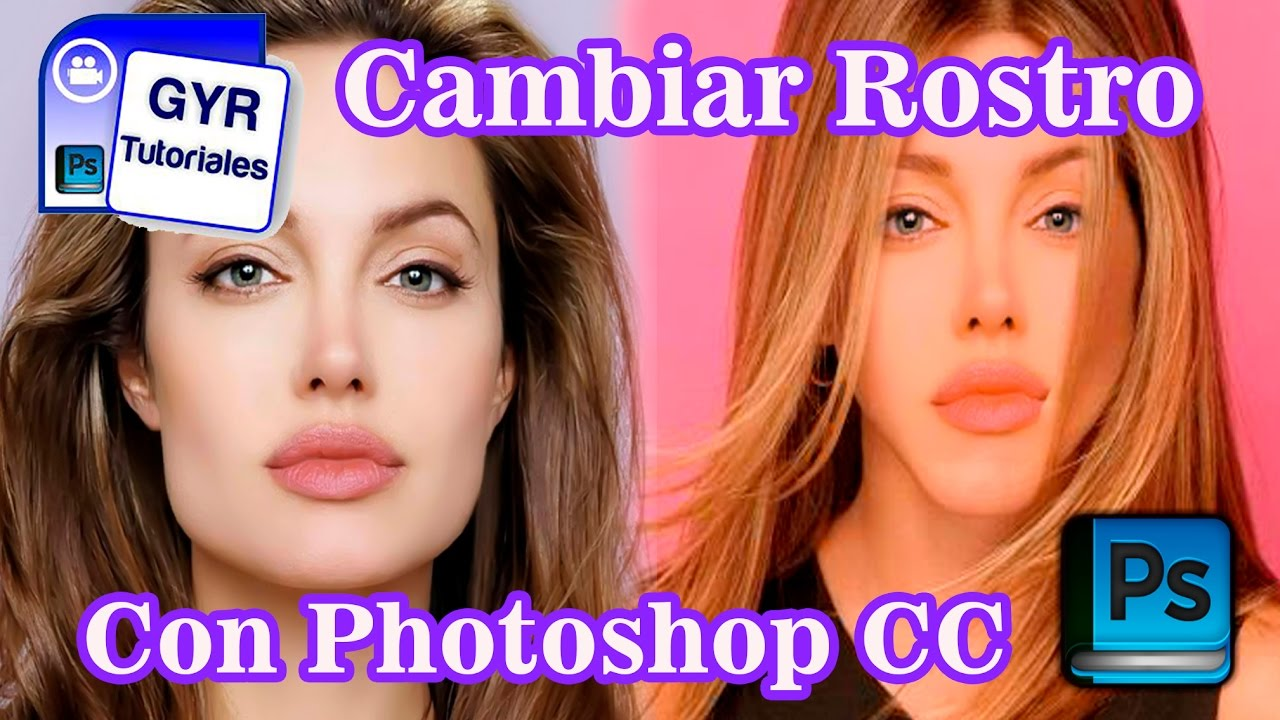 Tutorial Photoshop CC  Como Cambiar Un Rostro Y Sobre Poner el Pelo Nuevamente