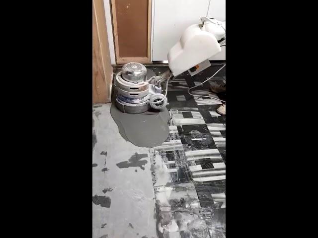 Marble floor grinding process