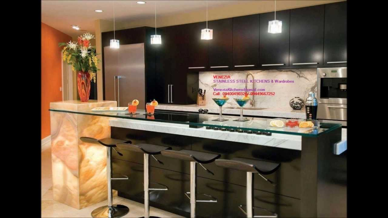 Stainless Steel Finish Modular Kitchen Wooden Interiors Thrissur Call 9400490326 You