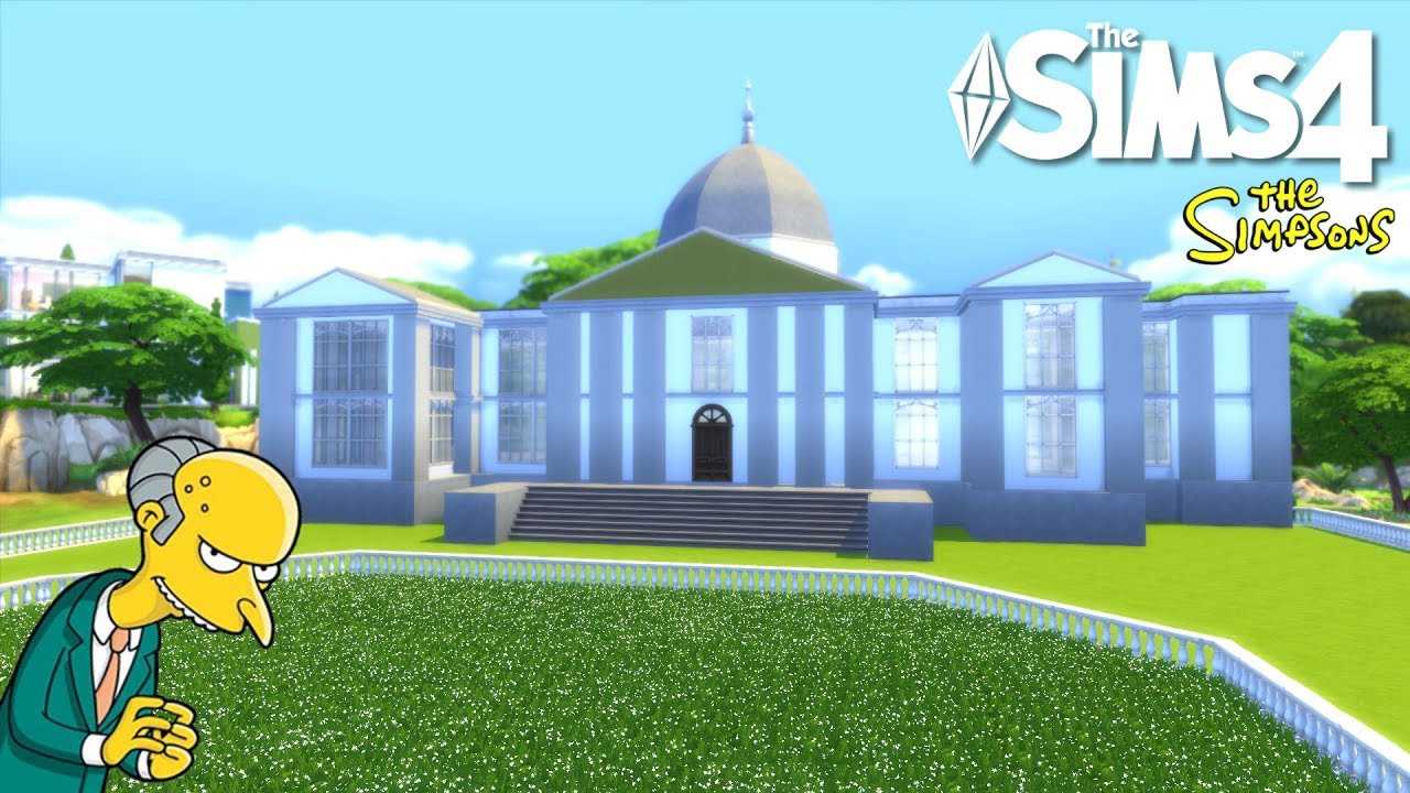 Burns' Manor   The Sims 4 House Building W/The SimPanions