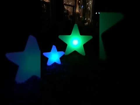 【588團購網】LED燈發光星星40cm插電款七彩遙控變化戶外廣場別墅裝飾燈節日活動佈置燈具