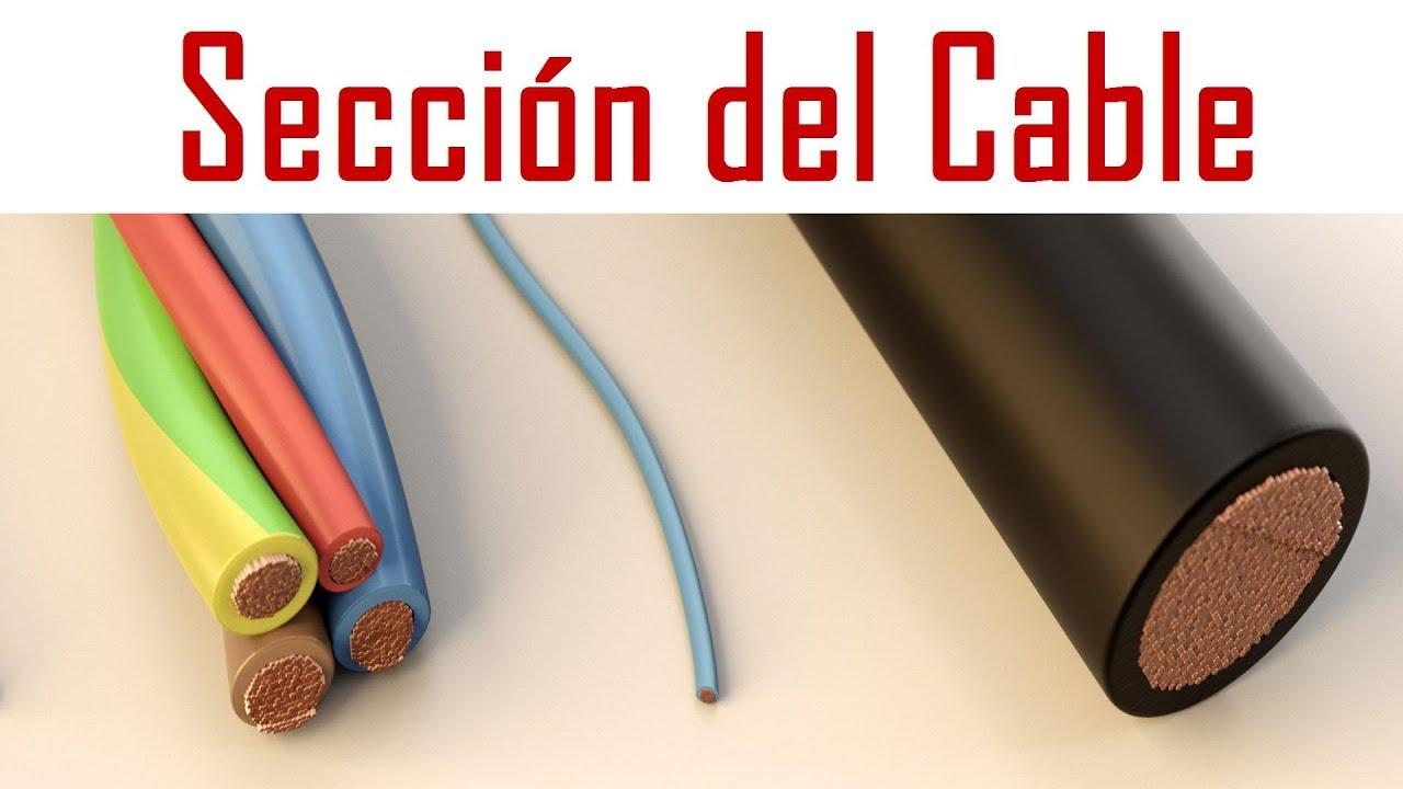 Calcular la sección de un cable de una instalación electrica de una ...