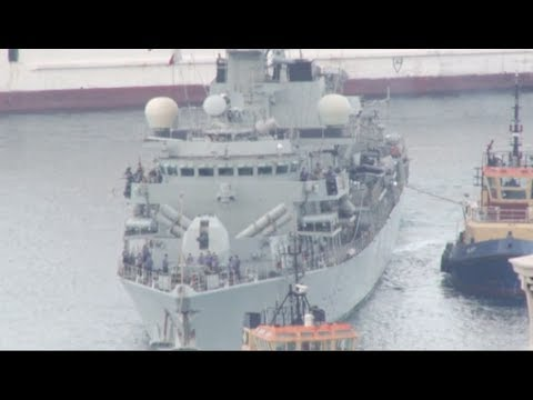 British warship arrives in Gibraltar