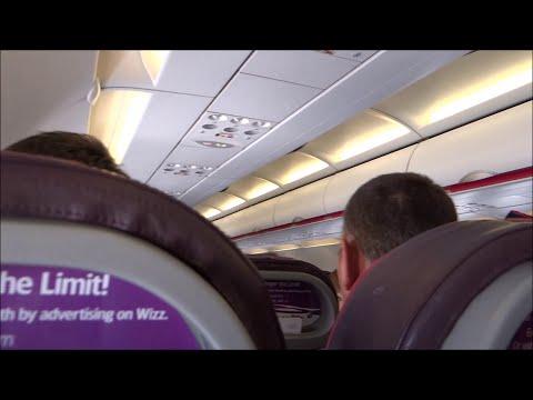 *TURBULENCE ON BOARD* Wizz Air Airbus A320-232 (HA-LWE)