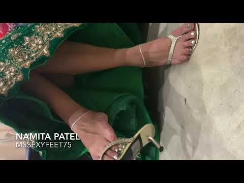 Indian Sexy feet in thong heels with saree by Mssexyfeet75
