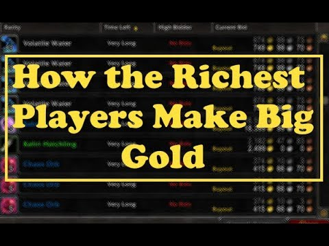 How the Richest WoW Players Make Gold: Auction House Flippin