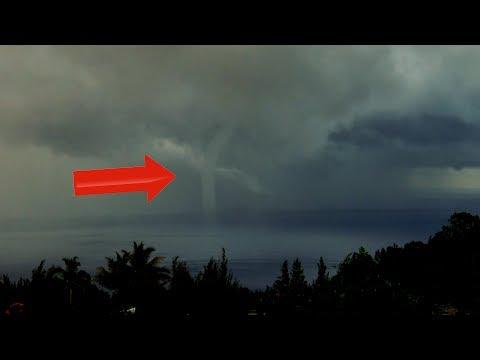"4k Video ""RARE"" Tornado Hits Hawaii Coast 2019-2020"