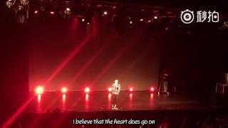 [Vietsub] [Fancam] [03.08.16] My heart will go on - Hoàng Lễ Cách