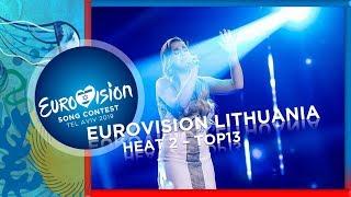 Eurovision 2019 - Lithuania [Eurovizijos Atranka] Heat 2 - My TOP13 w/ Results