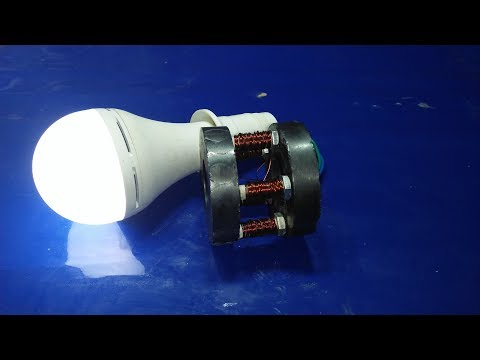 how to generate electricity with magnets and copper wire  100%free energy