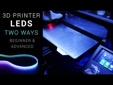 3D printer LEDs - Beginner and advanced versions thumbnail